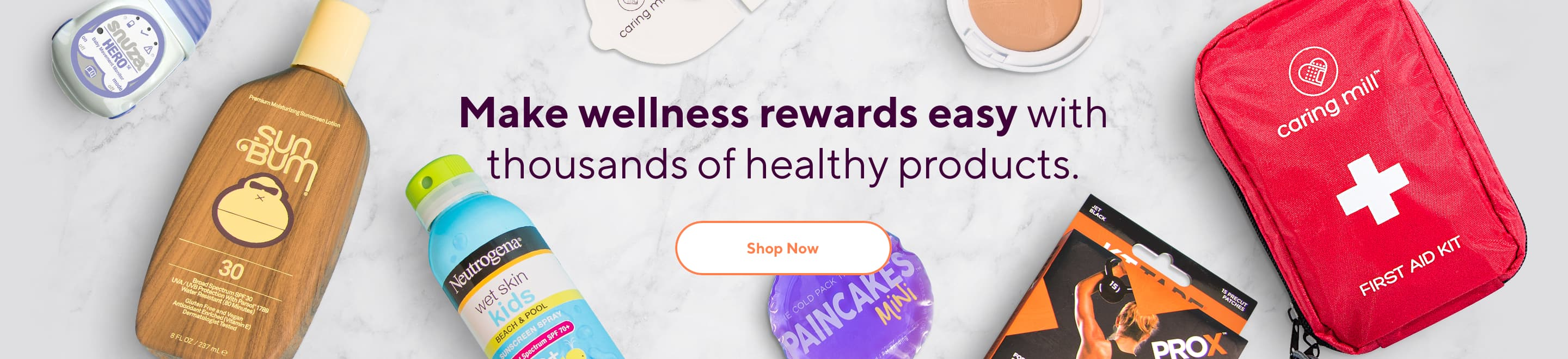 Make wellness rewards easy with thousands of healthy products.