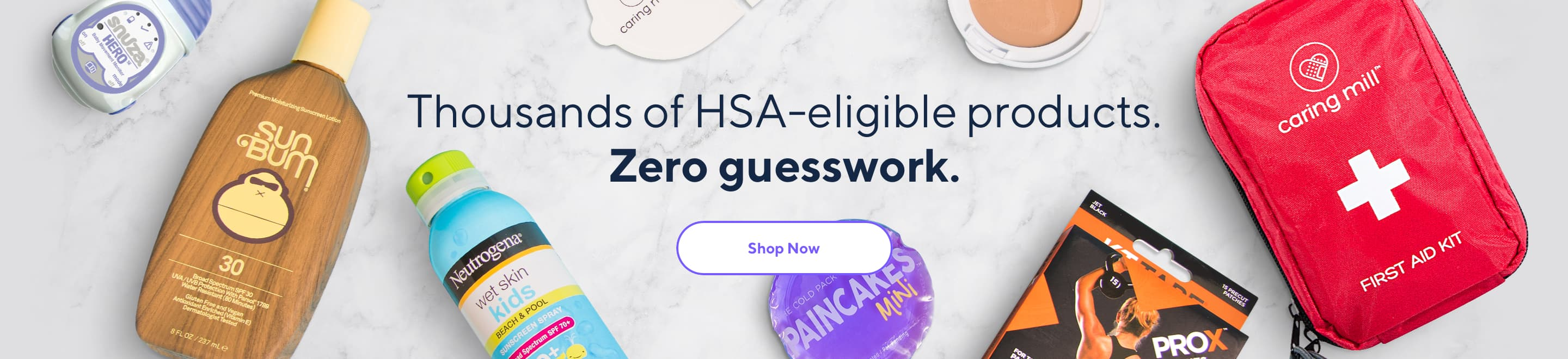 Thousands of HSA-eligible products. Zero guesswork.