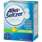Alka-Seltzer Effervescent Tablets, 36 ea, Lemon Lime