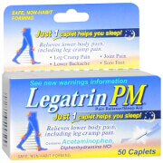 Legatrin PM Caplets, Advanced Formula Pain Reliever with Sleep Aid, 50 ea