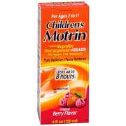 Children's Motrin Ibuprofen Oral Suspension, Fever Reducer/Pain Reliever, Berry Liquid, 4 fl oz