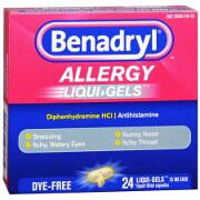 Benadryl Dye-Free Allergy Relief, Liqui-gels, 24 capsules