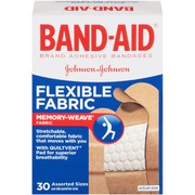 Band-Aid Flexible Fabric Adhesive Bandages, Assorted, 30 ea
