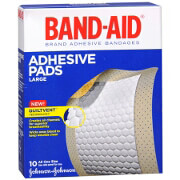 Band-Aid Adhesive Pads Comfort Flex Large, 10 ea