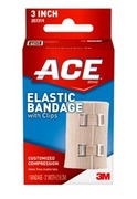 """ACE 3"""" Elastic Bandage with Clips"""
