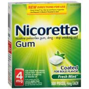 Nicorette Nicotine Gum 4mg, Fresh Mint, 100 ea