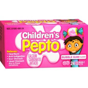 Pepto-Bismol Children's, Chewable Tablets, Bubble Gum, 24 ea