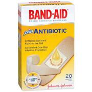 Band-Aid Plus Antibiotic Adhesive Bandages, Assorted Sizes, 20 ea