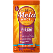 Metamucil Sugar Free Psyllium Fiber, Smooth Texture Powder, Orange, 23.3 oz
