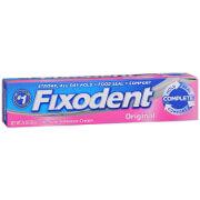 Fixodent Denture Adhesive Cream, Original, 2.4 oz