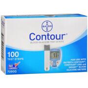 Bayer Contour Blood Glucose Test Strips, 100 ea