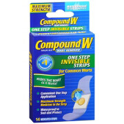Compound W One Step Invisible Strips Wart Remover, 14 ea