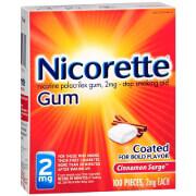 Nicorette Nicotine Gum 2mg, Cinnamon Surge, 100 ea