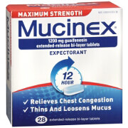 Mucinex Expectorant, Guaifenesin Extended-Release 1200 mg Tablets, 28 ea