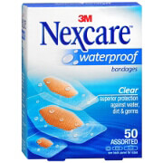 Nexcare Waterproof Clear Bandage, Assorted Sizes, 50 ea