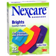 Nexcare Brights Comfort Fabric Bandages, Assorted Sizes, 25 ea