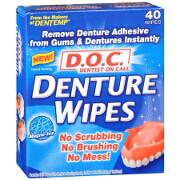 D. O. C. Denture Wipes, 40 ea