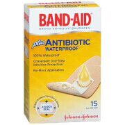 Band-Aid Adhesive Bandages with Antibiotic, 15 ea