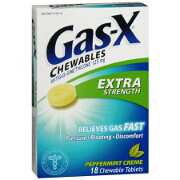 Gas-X extra strength antigas chewable tablets, peppermint creme - 18 e