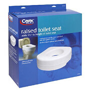 Carex Raised Toilet Seat, 1 seat