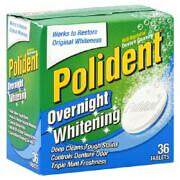 polident denture cleanser anti bacterial overnight whitening 36