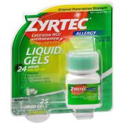 Zyrtec 10mg Allergy Liquid Gels - 25 Count