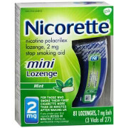 Nicorette Stop Smoking Aid Mini Lozenges 2 mg 81ea.
