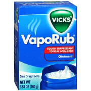 Vicks VapoRub Cough Suppressant Topical Analgesic Ointment 3.53oz.
