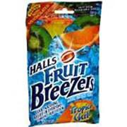 Halls Fruit Breezer Pectin Throat Drops Tropical Chill Bag - 25 Drops
