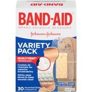 Band-Aid Adhesive Bandages, Variety Pack, Assorted Sizes, 30 ea