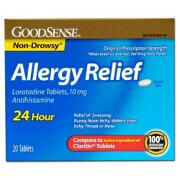 Loratadine 24 Hour Allergy Relief Tablets with 10 mg Antihistamine - 20 Ea