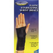 Bell-Horn Elastic Stabilizing Wrist Brace, Black Right Medium, 1 ea