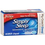 Simply Sleep Nighttime Sleep Aid, 25 mg - 100 Caplets