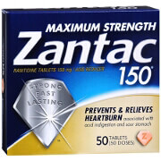 Zantac 150 Acid Reducer Maximum Strength 150 mg, 50 Tablets