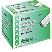 Dynarex Conform Stretch Gauze Bandages Non Sterile 4 Inches X 4.1 Yards, 12 Rolls