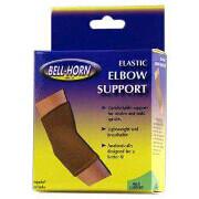 Bell-Horn Compressive Elbow Support, Beige, Large