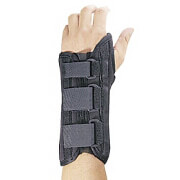 FLA Professional Wrist Splint Brace Black Medium Left