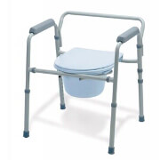 Guardian 3 In 1 Steel Commode Adjustable with Removable Back, Guard 30213/4