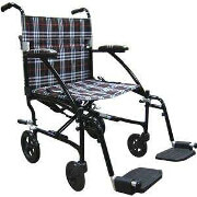 "Drive 19""Deluxe Fly-Weight Aluminum Transport Chair Frame-Blue, FW19BL"