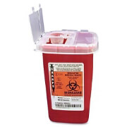 Kendal 8900SA Sharps Container 1 Quart, Red