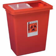 Transportable Sharps Container 8 Gallon, Transparent Red , 8961