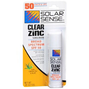 Solar Sense Clear Zinc Stick for Face and Lips, SPF 50, .45 oz
