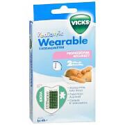 Vicks Children's Wearable Thermometer V935, 6 ea