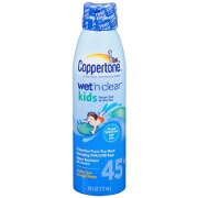 Coppertone Kids Wet 'n Clear Sunscreen Continuous Spray, SPF 45 +, 6 oz