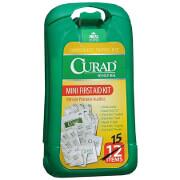 Curad Mini First Aid Kit, 15 pc