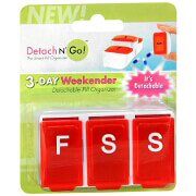 Detach N' Go 3 Day Weekender Pill Box, 1 ea
