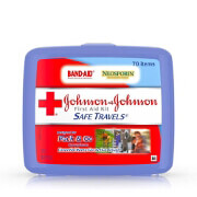 Johnson & Johnson First Aid Kit, Safe Travels, 70 pc