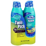 Coppertone Kids Continuous Spray, SPF 50, Twin pack, 6 oz