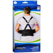 """Sportaid Back Brace with Suspenders Black, 32""""-44"""", med/lg"""