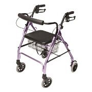 "Walkabout Lite Four- 6"" Wheels Rollator, Lavender"